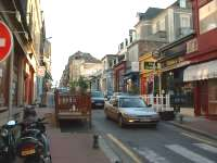 One of Dinard's main shopping streets